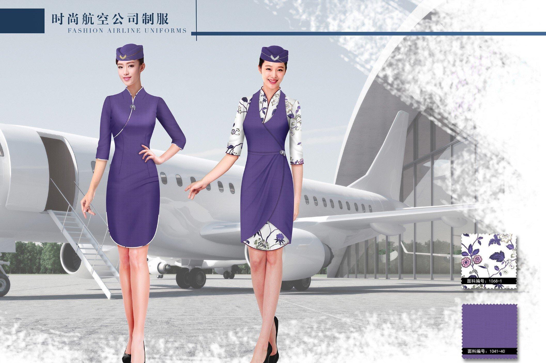 时尚中国主题航空公司团体制服服装方案58262